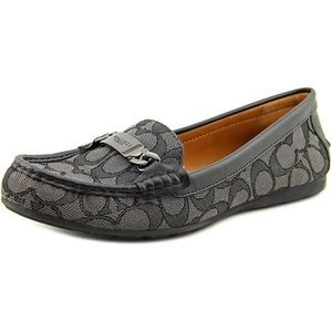 Women's Coach Snake Imposed Leather Loafers